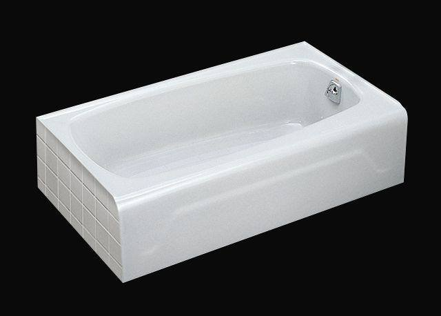 Kohler K 746 0 Seaforth Bath With Right Hand Drain   White