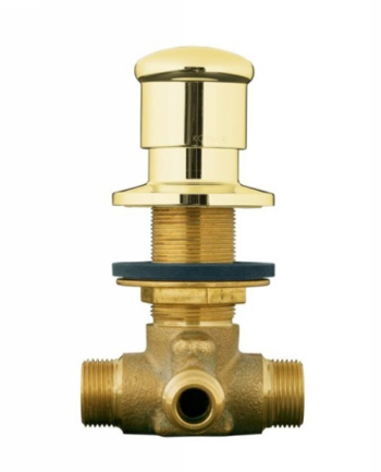 Kohler K-9530-PB Deck-Mount Two-Way Diverter Valve - Polished Brass