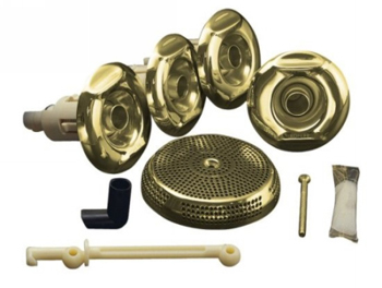 Kohler K-9694-PB Flexjet Whirlpool Trim Kit With Four Jets - Vibrant Polished Brass