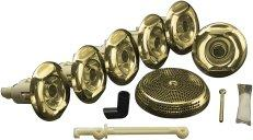 Kohler K-9696-PB Flexjet Whirlpool Trim Kit With Six Jets - Polished Brass