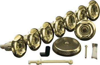 Kohler K-9698-PB Flexjet Whirlpool Trim Kit With Eight Jets - Vibrant Polished Brass