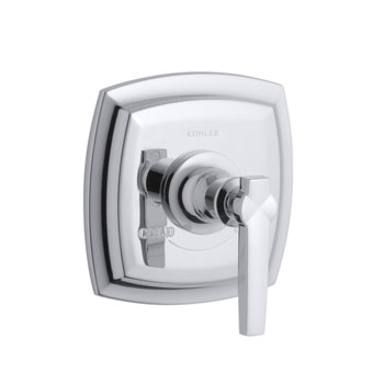 Kohler K-T16239-4-CP Margaux One Handle Thermostatic Control Trim - Polished Chrome