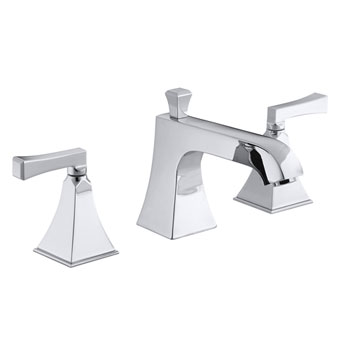 Kohler K-T428-4V-CP Memoirs Stately Double Handle Roman Tub Trim With Metal Lever Handles - Polished Chrome