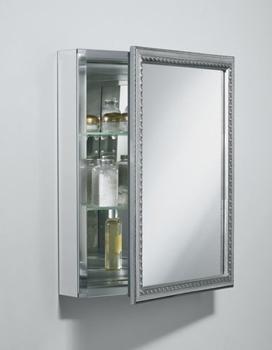 Kohler K Cb Clw2026ss Universal 20 Silver Framed Single Door Mirrored Medicine Cabinet