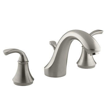 Kohler K-T10292-4-BN Forte Double Handle Roman Tub Trim With Metal Lever Handles - Brushed Nickel
