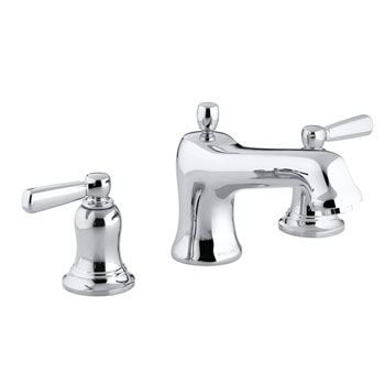 Kohler K-T10592-4-CP Forte Double Handle Roman Tub Trim With Metal Lever Handles - Polished Chrome
