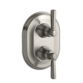 Kohler K-T10594-4-BN Bancroft Double Metal Lever Handle Thermostatic Trim - Brushed Nickel