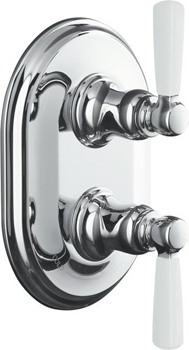 Kohler K-T10594-4P-CP Bancroft Two Handle Thermostatic Control Faucet Trim Kit - Polished Chrome