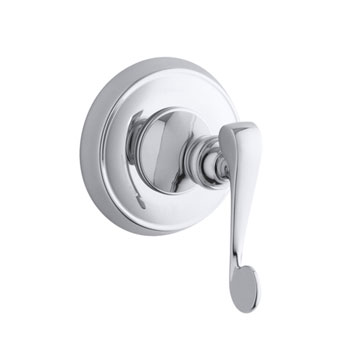 Kohler K-T16177-4-CP Revival Single Handle Volume Control Valve Trim with Metal Lever Handle - Polished Chrome