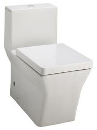 Kohler K-3797-HW1 Reve One-Piece Elongated Toilet with Dual Flush Technology - Honed White (Pictured in White)