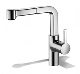KWC 10.191.003.000 Ava Single Hole Pull-Out Kitchen Faucet - Polished Chrome