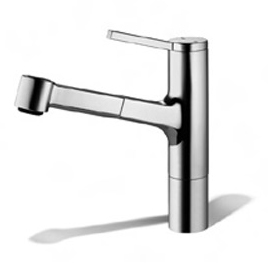 KWC-10.191.033.127-Ava-Single-Hole-Pull-Out-Kitchen-Faucet---Stainless-Steel-(Pictured-in-Polished-Chrome)