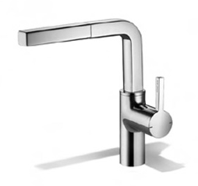 KWC 10.191.103.000 Ava Single Hole Side-Lever Kitchen Faucet - Polished Chrome