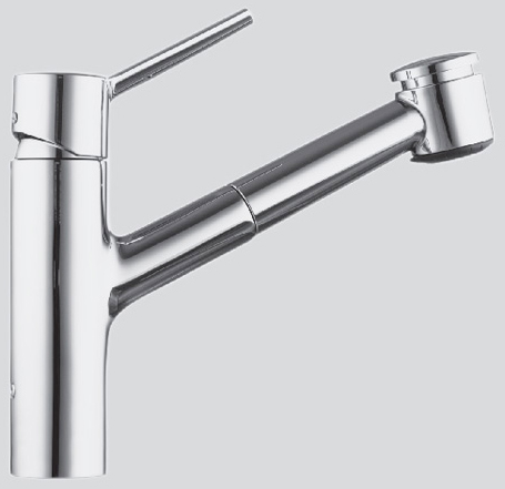 Luna Single Handle Pull Out Kitchen Faucet
