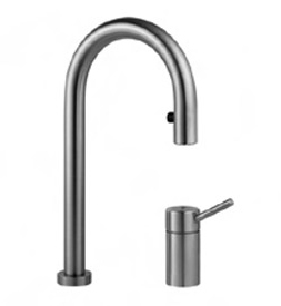 KWC 10.272.123.700 Suprimo Two Hole Single Lever Kitchen Faucet - Stainless Steel