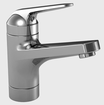 KWC 12.061.011.000 Domo Single Lever Basin Mixer with Swivel Spout - Polished Chrome