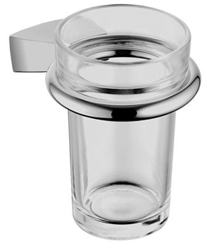 KWC 5429.0900.0017 Hansa Glass Holder With Clear Glass - Polished Chrome