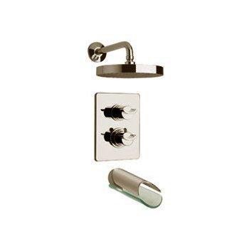 La Toscana 73PW691VR Morgana Thermostatic Tub/Shower Valve and Trim - Brushed Nickel