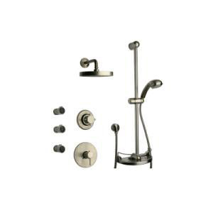 La Toscana 78PW70100002 Thermostatic Shower System - Brushed Nickel