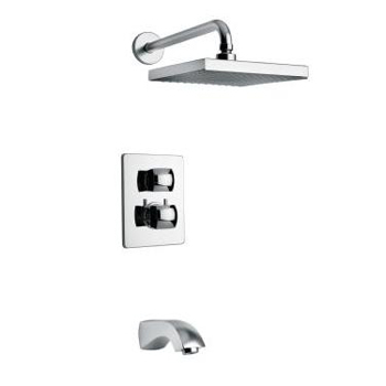 La Toscana 89CR691 Lady Thermostatic Tub/Shower Valve and Trim - Chrome