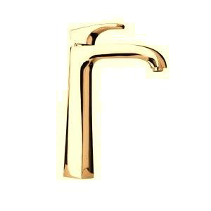 La Toscana 89OK211LL Lady Tall Single Handle/Hole Lavatory Vessel Faucet - Satin Gold