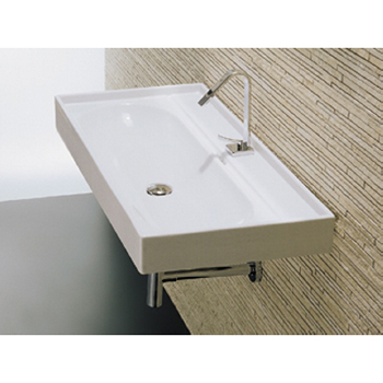 La Toscana L3012 Piano Wall-Mount Ceramic Lavatory - White