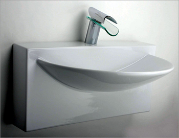 La Toscana L790 Wall-Mount Bathroom Sink - White