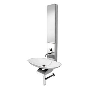 La Toscana LF-03W La Fontana Half Column Vanity with Sink and Faucet - White