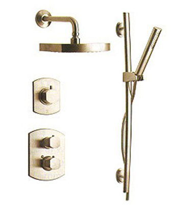 La Toscana SHOWER3NOBN Novello Shower System - Brushed Nickel