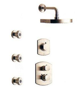 La Toscana SHOWER4NOBN Novello Shower System - Brushed Nickel