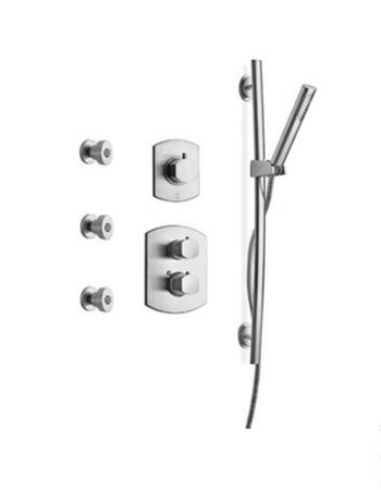 La Toscana SHOWER6NOCP Novello Shower System - Chrome