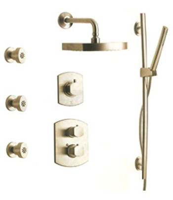 La Toscana SHOWER7NOBN Novello Shower System - Brushed Nickel
