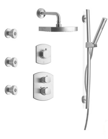 La Toscana SHOWER7NOCP Novello Shower System - Chrome