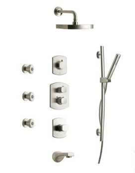 La Toscana SHOWER8NOCP Novello Shower System - Chrome (Pictured in Brushed Nickel)