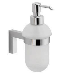 La Toscana SQ01DPW Square Lavatory Soap Dispenser - Brushed Nickel