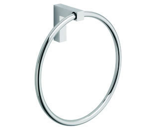 La Toscana SQ07CR Square Towel Ring - Chrome