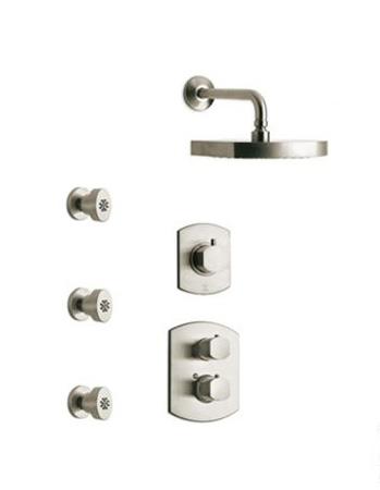La Toscana SHOWER4NOCP Novello Shower System - Chrome