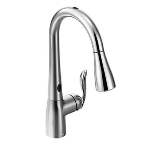 Moen 7594EC Arbor Single Handle/Hole Pull-Down Kitchen Faucet with MotionSense - Chrome