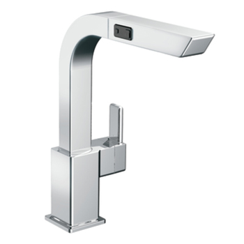 Moen S7597C 90 Degree Single Handle High Arc Pull-Out Kitchen Faucet - Chrome