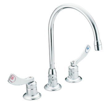 Moen 8225 Commercial Two Handle Deck Mount Kitchen Faucet Chrome