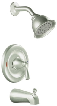 Moen 82910SRN Banbury Single Handle Posi-Temp(R) Tub/Shower Spot Resist Brushed Nickel