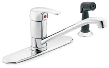 Moen 8707 M-BITION Single Handle Kitchen Low Arc Kitchen Faucet with Sidespray Chrome