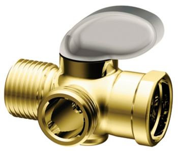 Moen A720P Shower Arm Diverter Polished Brass