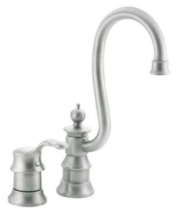 Moen S611CSL Waterhill Single Handle Bar/Prep Faucet Classic Stainless