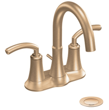 Moen S6510BB Icon Two-Handle Centerset Lavatory Faucet Brushed Bronze