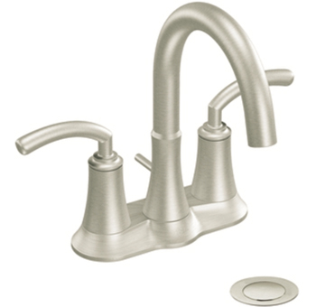 Moen S6510BN Icon Two-Handle Centerset Lavatory Faucet Brushed NIckel