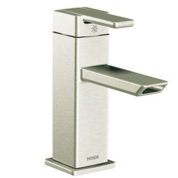 Moen S6700BN 90 Degree Single Handle Centerset Lavatory Faucet Brushed Nickel