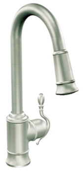 Moen S7208CSL Woodmere Single Handle/Hole High Arc Pulldown Kitchen Faucet - Classic Stainless