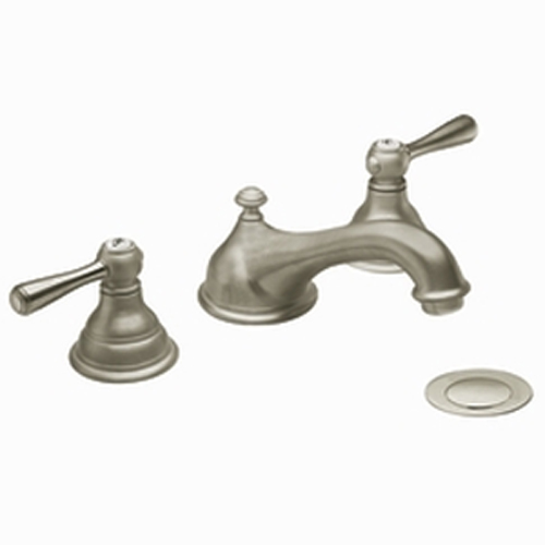 Moen T6105BN Kingsley Two-Handle Widespread Lavatory Faucet Trim Brushed Nickel