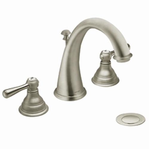 Moen T6125BN Kingsley Two-Handle Widespread Lavatory Faucet Trim - Brushed Nickel